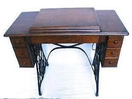 Singer Sewing Machine Desk Sewing Machine Cabinet Ebay