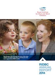 Royal Institute Blind Royal Institute For Deaf And Blind Children Annual Report 2014 By