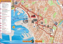 Port Of Spain Map by Genoa Italy Cruise Port Of Call