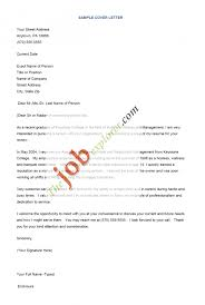 cover letter samples of cover letters for jobs free samples of