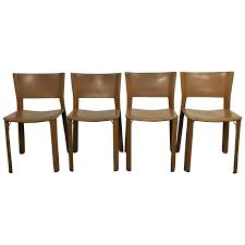 Italian Leather Dining Chairs Set Of Four Leather Giancarlo Vegni S91 Chairs For Fasem Italy