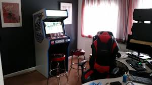 custom arcade cabinet finally arrived in the mancave cade