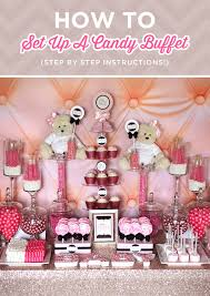 Pink Wedding Candy Buffet by How To Set Up A Candy Buffet Step By Step Instructions Event