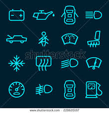 Lights On Dashboard Meaning Dashboard Warning Lights Stock Images Royalty Free Images