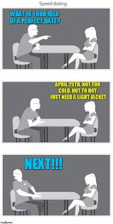 Perfect Date Meme - is your idea of a perfect date april 25th not too cold not to hot