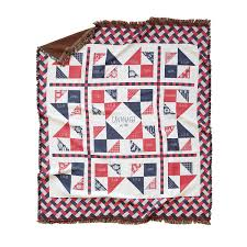 personalized home decor fabric of our family blanket americana personalized home decor