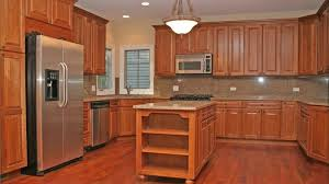 Light Cherry Kitchen Cabinets Light Cherry Kitchen Cupboards Team Up With Granite Countertops