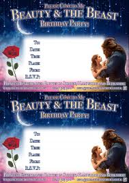 free beauty and the beast downloads u2013 printable party invitations