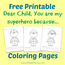 free printable super hero letter child meet penny