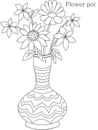 Draw A Flower Vase Tribal Flower Vase Coloring Page Coloring Sky