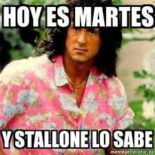 Stallone Meme - meme personalizado hoy es martes y stallone lo sabe 20235316