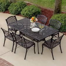 Patio 7 Piece Dining Set - heritage 7 piece cast aluminum patio dining set with rectangular