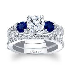 bridal set rings barkev s blue sapphire bridal set 7973sbs