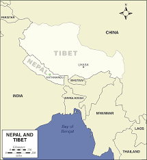 map of nepal and india map of nepal tibet the of history and maps