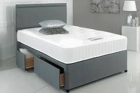 Divan Bed Set Grey Fabric Divan Bed Set With Mattress Headboard Drawer Options
