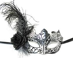 masquerade masks with feathers black silver masquerade mask costume mask costume mask
