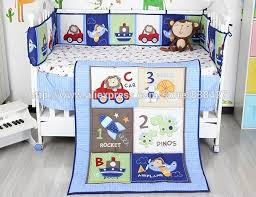 Cot Bedding Sets For Boys Ups Free New Blue Cars Airplane Printed Baby Boy Crib Cot Bedding