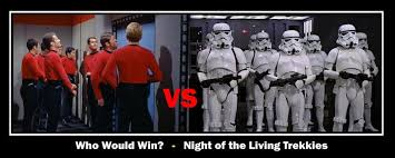 Red Shirt Star Trek Meme - memetic star trek red shirts vs memetic star wars stormtroopers