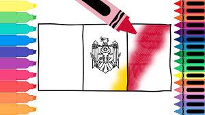Moldova Flag How To Draw Moldova Flag Drawing The Moldovan Flag Coloring