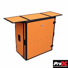 Fold Away Desk by Fold Away Dj Performance Desk Orange On Black Dj Equipment