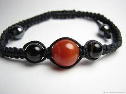 shamballa bracelet handmade images Shamballa bracelet carnelian and agate shop online on livemaster jpg