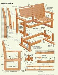 Free Plans For Wood Patio Furniture by Free Porch Glider Project Plans Woodwork City Free Woodworking Plans