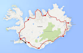 Icelandair Route Map by 10 Day Self Driving Tour Of Iceland Kitty To City