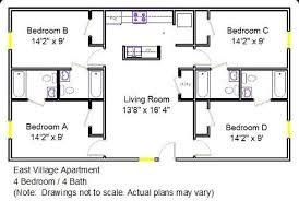 4 bedroom floor plan 4 bedroom apartments east apartment floor plan 4 bedroom 4