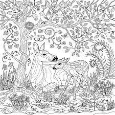 deer fantasy forest coloring page crista forest jpg jpeg image