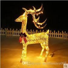 Christmas Yard Decorations Animated by Animated 1 2m Lighted Reindeer Deer Family Christmas Yard