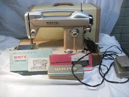details about vintage white sewing machine heavy duty model 664