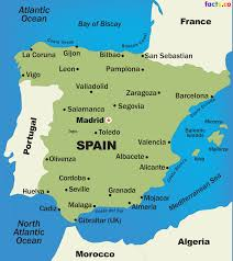 France Map With Cities by Spain Map Blank Political Spain Map With Cities