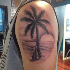 palm tree tattoos ink tree
