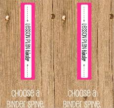 1 binder spine template business template