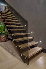 Wood Glass Stairs Design Interior Contemporary Floating Wooden Sttaircase Idea With