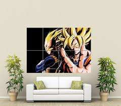 dragon ball z giant art poster picture print st591 dragon ball dragon ball z goku and vegeta giant wall image
