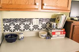 backsplash wall decals stylish diy decal backsplash for kitchen remodel goodwill