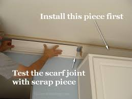 How To Install Crown Molding On Kitchen Cabinets Kitchen Crown Molding Installation The Last Piece Goes In The