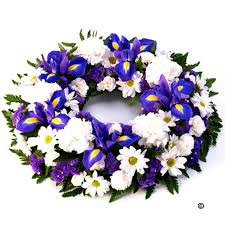 funeral wreaths funeral wreaths blue and white funeral flowers isle of wight flowers