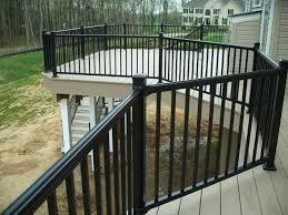 long lasting with vinyl deck railing cement patio