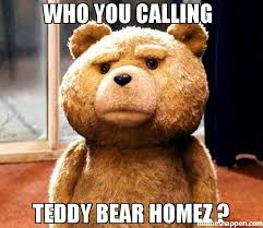 Meme Teddy Bear - who you calling teddy bear homez meme ted 39715 memeshappen