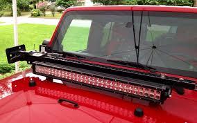 jeep jk hood led light bar hi lift light bar combo jeep wrangler forum