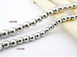 stainless steel ball necklace images Pure handmade jewelry polished stainless steel solid heavy ball jpg