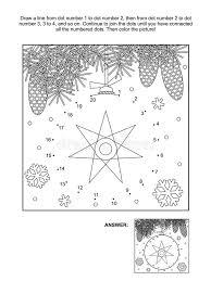 dot dot coloring christmas ornament stock vector