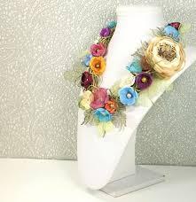necklace flower handmade images Floral pastoral handmade necklace brooch fabric flower shop jpg