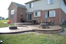Stamped Concrete Backyard Ideas Stamped Concrete With Fire Pit Google Search Yard Ideas