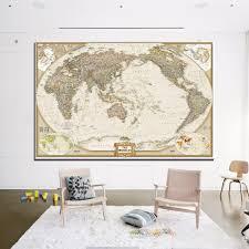aliexpress com buy unique huge classic world map vintage canvas
