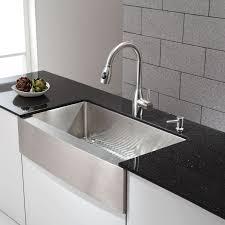 36 inch farmhouse sink kraus khf200 36 stainless steel 35 7 8 single basin 16 gauge