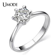 classic designs rings images Buy umode classic simple design 6 prong sparkling jpg