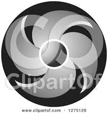 clipart of a colorful propeller design royalty free vector